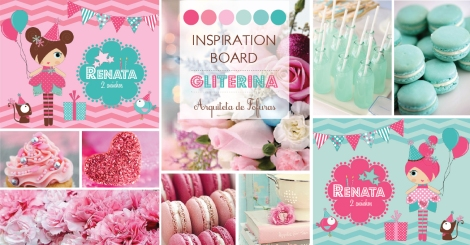 Inspiration Board Bonequinha de Luxo Gliterina Glamour | Arquiteta de Fofuras