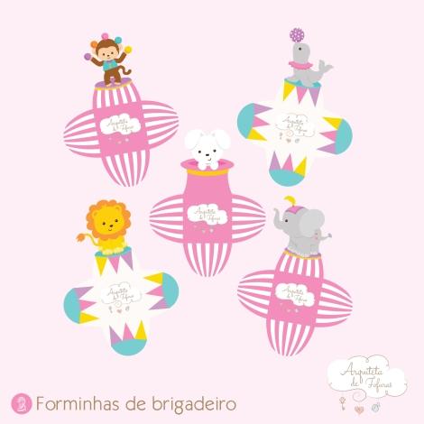 Forminha brigadeiro Circo Menina_Arquiteta de Fofuras