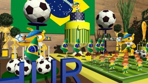 Festa Fuleco | Decoração festa infantil Copa do Mundo Futebol | Arquiteta de Fofuras